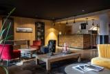 Alpe D'Huez Location Appartement Luxe Amarite Séjour Commun