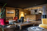 Alpe D'Huez Location Appartement Luxe Amarua Séjour Commun