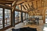 Chamonix Luxury Rental Chalet Coroudin Dining Area