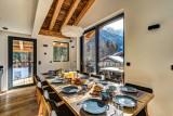 Chamonix Mont Blanc Location Chalet Luxe Paradamote Salle A Manger