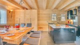 Chatel Luxury Rental Chalet Chalcora Dining Area