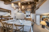 Courchevel 1300 Luxury Rental Chalet Nibate Dining Room 2