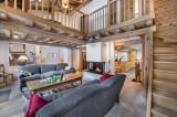 Courchevel 1300 Luxury Rental Chalet Nibate Living Room 2
