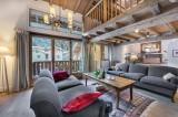 Courchevel 1300 Luxury Rental Chalet Nibate Living Room 3