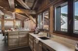 Courchevel 1300 Luxury Rental Chalet Noubate Kitchen 2