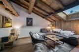 Courchevel 1300 Luxury Rental Chalet Noubate Living Room 4