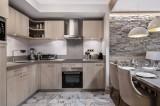 Courchevel 1550 Luxury Rental Appartment Telekia Kitchen