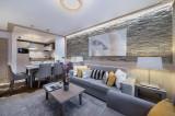 Courchevel 1550 Luxury Rental Appartment Telekia Living Room