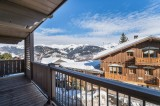 Courchevel 1550 Luxury Rental Appartment Telikia Balcony