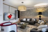 Courchevel 1550 Luxury Rental Appartment Telimite Living Room 3
