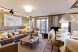 Courchevel 1550 Luxury Rental Appartment Telokia Living Room 2