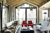 Courchevel 1550 Luxury Rental Chalet Niibite Living Room