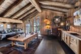 Courchevel 1550 Luxury Rental Chalet Niobite Living Room