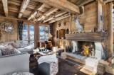 Courchevel 1550 Luxury Rental Chalet Niobite Living Room 2