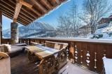 Courchevel 1550 Luxury Rental Chalet Niobite Terrace