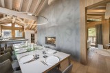 Courchevel 1550 Luxury Rental Chalet Niubite Dining Room 2