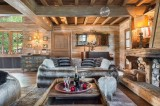 Courchevel 1550 Luxury Rental Chalet Tazoy Living Room 2
