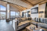Courchevel 1650 Luxury Rental Appartment Temagamite Living Room