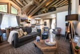Courchevel 1650 Luxury Rental Chalet Akarlonte Living Room 2