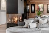 Courchevel 1650 Luxury Rental Chalet Elana Fireplace