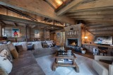 Courchevel 1850 Luxury Rental Appartment Bapilite Living Room