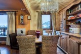 Courchevel 1850 Luxury Rental Appartment Calomel Dining Room