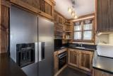 Courchevel 1850 Luxury Rental Chalet Cesarolite Kitchen