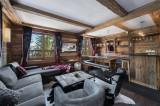 Courchevel 1850 Luxury Rental Chalet Cesarolite Living Room