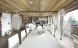 Courchevel 1850 Luxury Rental Chalet Crysotile Dining Room