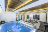 Courchevel 1850 Location Chalet Luxe Chudobaïte Indoor Jacuzzi