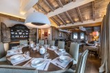 Courchevel 1850 Luxury Rental Chalet Chursinite Dining Room