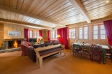 Courchevel 1850 Luxury Rental Chalet Cinnamon Living Room