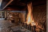 Courchevel 1850 Luxury Rental Chalet Nilia Fireplace