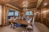Courchevel 1850 Luxury Rental Chalet Nilia Dining Room