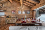Courchevel 1850 Luxury Rental Chalet Tazuy Dining Room