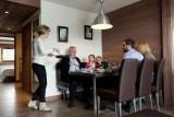 Flaine Rental Apartment Luxury Fangisse Dining Room