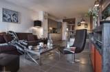 Flaine Location Appartement Luxe Fassaite Salon