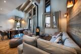 La Tania Luxury Rental Chalet Alte Living Room 2
