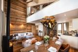La Tania Luxury Rental Chalet Alte Living Room