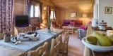 Le Grand Bornand Location Appartement Luxe Leukorite Duplex Salon