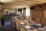 Le Grand Bornand Location Chalet Luxe Leonite Table A Manger