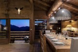 Le Grand Bornand Location Chalet Luxe Leonute Salle A Manger