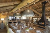 Le Grand Bornand Location Chalet Luxe Leonute Table A Manger