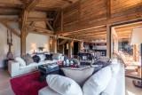 Les Gets Location Chalet Luxe Geigerite Salon 1