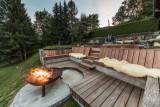 Les Gets Location Chalet Luxe Geigerite Sofa été