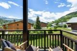 Megève Location Appartement Luxe Cabrute Balcon