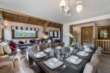 Megève Luxury Rental Chalet Cajolines Dining Area