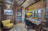 Megève Luxury Rental Chalet Cajuelite Office