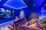 Megève Luxury Rental Chalet Cajuelite Cinema Room