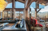 Megève Luxury Rental Chalet Cajuelite Living Area